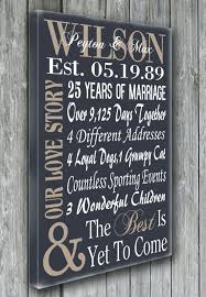 50 year anniversary gift personalized 5th 15th 25th 50th anniversary gift wedding