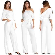 guess jumpsuits white jumpsuit for wed guess casual poket 70s