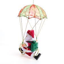 skydiving santa claus christmas decaration electric santa claus