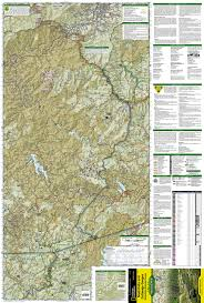 Great Smoky Mountains National Park Map Nantahala And Cullasaja Gorges Nantahala National Forest