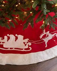 Poinsettia Christmas Tree Skirt Dashing Through The Snow Christmas Tree Skirt Balsam Hill