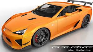 lexus lfa model car lexus lfa nurburgring 3d cgtrader