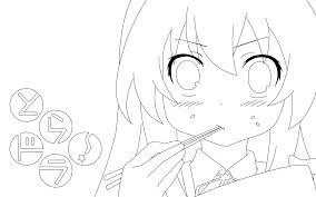 taiga aisaka coloring page by doremefasoladedo on deviantart
