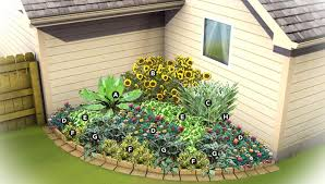 Corner Garden Ideas Charming Southeast Gardening Corner Garden Plan And Also