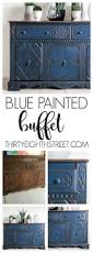 Diy Furniture Ideas by Blue Painted Buffet Makeover Buffet Street And Paint Furniture