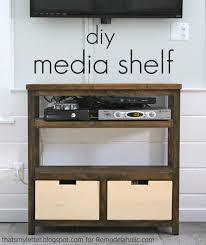 build an open media shelf remodelaholic bloglovin u0027