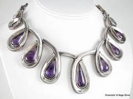 amethyst jewelry necklace images Estate jewelry silver mexican trocadero jpg