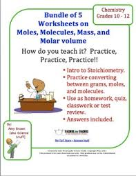 introduction to stoichiometry worksheets bundle of 5 by amy brown