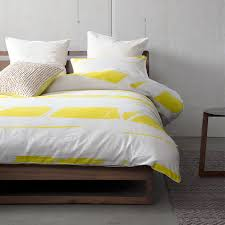 broken stripes yellow quilt cover set by kas room planet linen