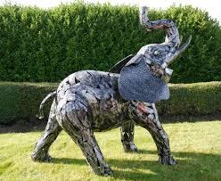 big metal elephant statue and sculpture garden sculptures