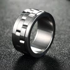 vintage titanium rings images Spinner ring men jewelry vintage stainless steel ring punk jpg