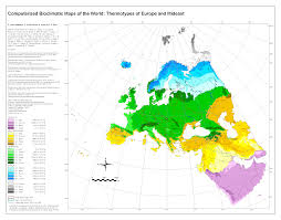 European Continent Map by Bioclimatic U0026 Biogeographic Maps