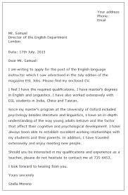 job application cover letter for teacher professional resumes