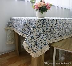 Buy Table Linens Cheap - amazing classical chinese blue and white linen tablecloths wind