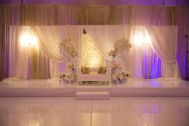 wedding decorator purple and white theme of wedding stage decoration indian wedding