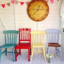 Red Shabby Chic Furniture by Painted Chairs Mismatched Shabby Chic Chairs Set Of Four