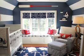 lovely navy blue anchor fabric decorating ideas images in nursery