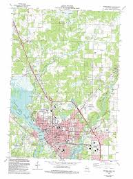 Map Of Wisconsin by Stevens Point Topographic Map Wi Usgs Topo Quad 44089e5