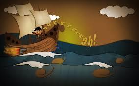 pirate ship art cartoon 6981795