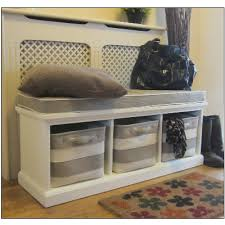 Storage Seat Bench White Bench Hallway Shoe Storage And Seat Stripe Baskets So This