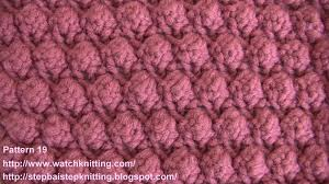 bobble stitch free knitting patterns stitch 19