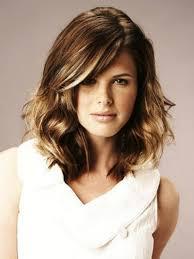 medium length hairstyles for sleek blonde curly hair cute women