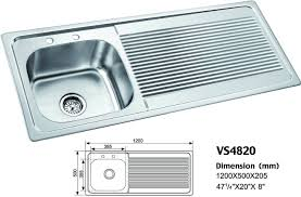 standard kitchen sink size home design u0026 interior design