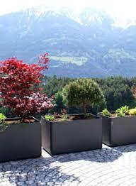 modern outdoor planters rectangular tall planter pot 24