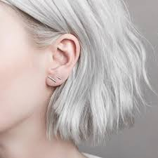 bar stud earrings fashion 925 silver simple t bar earrings for women ear stud