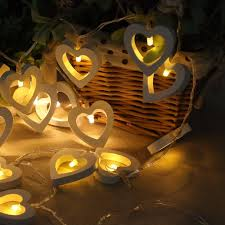heart shaped christmas lights wholesale hngchoige 10 led wood heart shaped string decorative