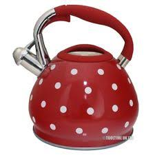 Red Polka Dot Kettle And Toaster Red Tea Kettles Ebay