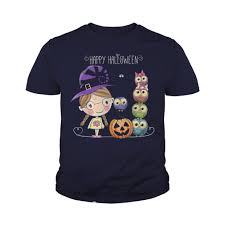 happy halloween little witch owls shirt hoodie tank top v neck