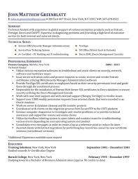Technical Analyst Resume Sample by Package A Five Star Resume