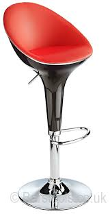 meteor bar stool black u0026 red