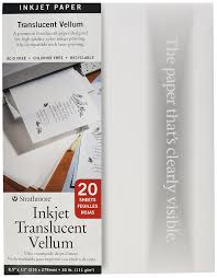 amazon com strathmore translucent vellum inkjet paper 8 5