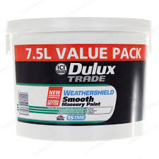 dulux trade weathershield smooth masonry exterior paint 7 5l magnolia