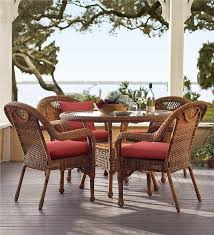 Wicker Prospect Hill Dining Set Patio Plow  Hearth - Round dining table with wicker chairs