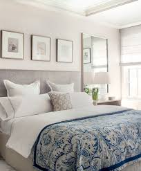 Silver Velvet Headboard by Gray And Blue Bedrooms Transitional Bedroom Victoria Hagan