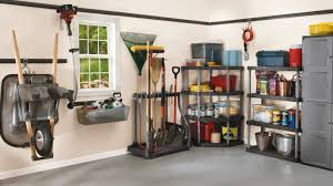 Rubbermaid Storage Shed Shelves by Modern Garage Organization Ideas With Rubbermaid Garden Tool Rack