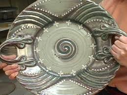 ceramic platter how to make an ornate ceramic platter hgtv