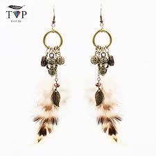 cool dangle earrings aliexpress buy feather dangle earrings cool gift