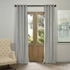 Blackout Curtain Panels With Grommets Exclusive Fabrics Signature Silver Grey Velvet Blackout Curtain