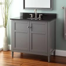 Vessel Sink Bathroom Ideas Varnished Oak Wood Vanity With Double Black Stone Vessel Sinks