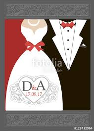 Red And Black Wedding Invitations Bride And Groom Wedding Invitation Red Black White Wedding Logo