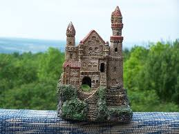 ornaments castle resin aquarium ornament