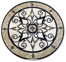 mosaic honed floor medallions tile medallion marble inlay