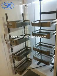 kitchen cabinets baskets guangzhou factory supply modern kitchen cabinet stainless steel