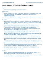 skripsi akuntansi ekonomi judul skripsi berbagai jurusan lengkap download