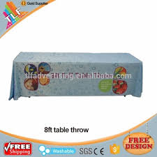 6ft Imprinted Table Cover Custom 6ft 8ft Trade Show Table Runner Throw Fitted Logo Custom Printed