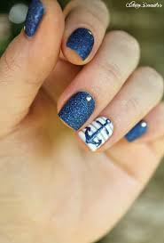 blue glitter and white with rhinestone accents nautical inspired